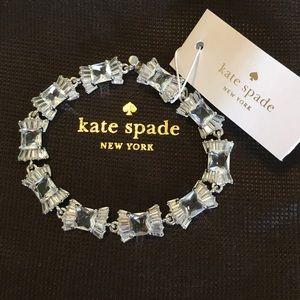 NWT Kate Spade Le Soir Bridal Bracelet Silver CZ